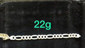 Pulseira De Prata Italiana 925 Modelo 3x1 22g
