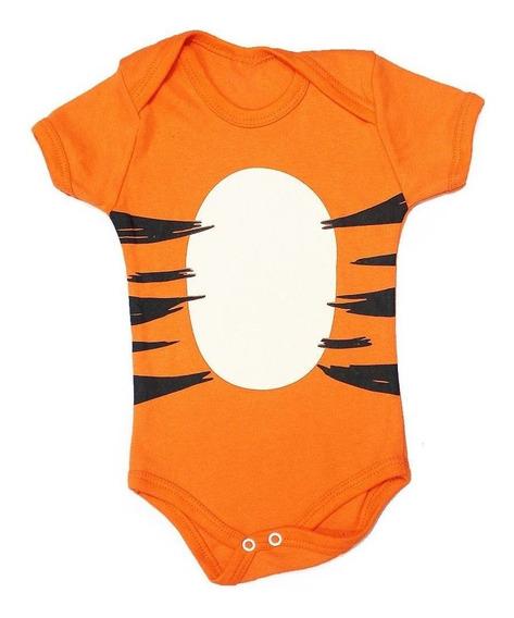Body Bebê Tigrão Roupa Fantasia Tigre Ursinho Pooh Puff
