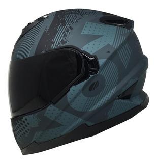 Casco Para Motociclista Kov Match One Negro Aerodinámico Lente Interno Certificación Auténtica De Seguridad