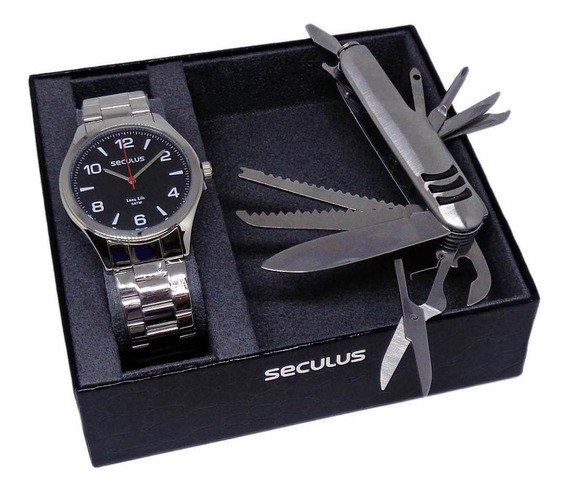 Relógio Seculus Masculino Prata Analógico 28974g0svna1kz