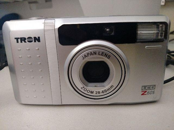 Camera Analogica Tron Z60s Flash Zoom Capa Filme 35mm Nova