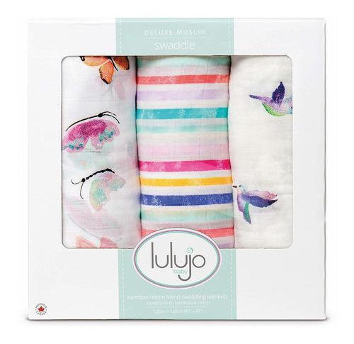 Unisex m/ás suave 100/% algod/ón muselina Swaddle manta Lulujo Manta para beb/é Manta de recepci/ón neutral para ni/ñas y ni/ños 119.4 x 119.4 cm Kitty