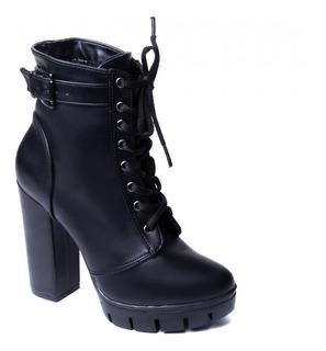 Sapato Feminino Preto Mod. Coturno