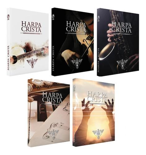 Harpa Cristã Grande Popular Kit Com 10 Harpas Várias Cores