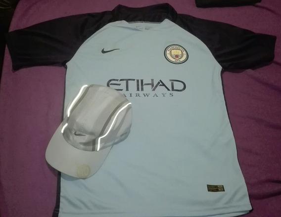 Camiseta Nike Manchester City Kun Agüero 10 Y Gorra Nike