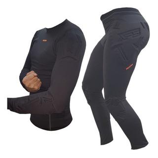 Combo Termico Prostar Ironman C/ Protecciones Calza + Remera