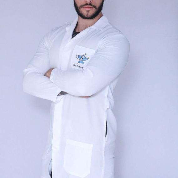 Jaleco Técnico Em Enfermagem Masc. Manga Longa Oxford Faíko