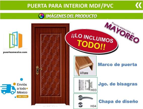 Puerta Para Interior Mdf/pvc