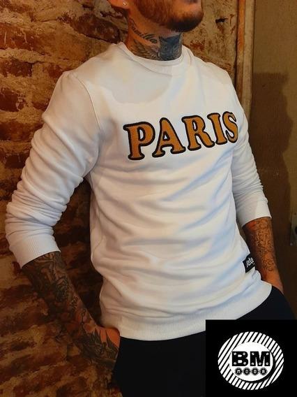 Buzo Bordado Con Frisa ( Paris), Bm Moda