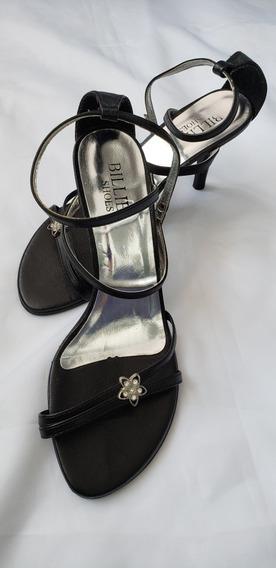 Sandália Preta Billie Shoes Tamanho 37