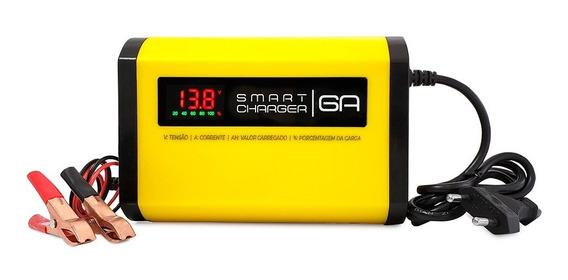 Carregador De Bateria 12v 6a V3.0 P/ Agm Gel Estacionaria Nobreak Alarme Painel Solar / Fonte Automotiva Led Som Modulo