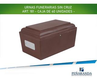 Urnas Funerarias Para Cremaciones. Caja 60 Unidades Sin Cruz