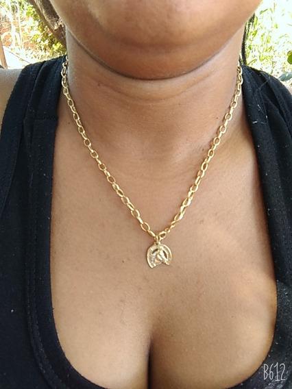Cordão De Ouro 18 K Feminino Com Pingente