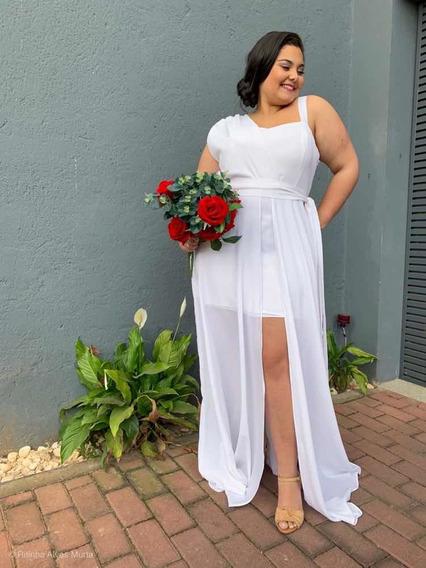 Vestido De Noiva Simples Plus Size Areta