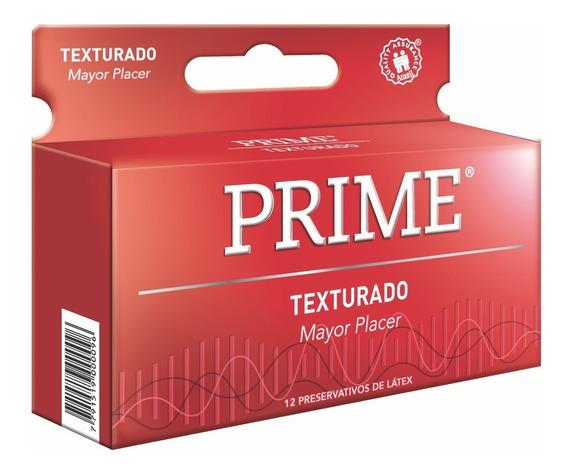 Preservativos Prime Texturado X12 Unidades Con Relieve