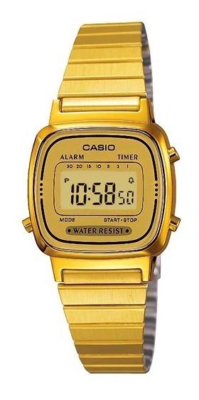Relógio Casio Feminino Vintage Dourado Tamanho Mini Original