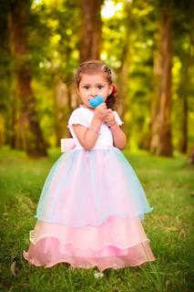 Vestido De Niña De Unicornio Y Lluvia De Amor Hecho A Medida