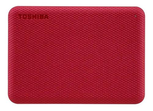 Imagen 1 de 4 de Disco duro externo Toshiba Canvio Advance HDTCA20X 2TB rojo