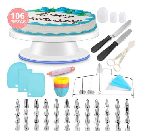 Imagen 1 de 8 de Kits De Decoración De Tartas 106 Piezas