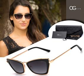 45971c6d7 Oculos De Sol Og Feminino Preto - Óculos De Sol no Mercado Livre Brasil