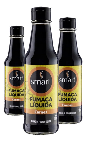 Imagem 1 de 2 de 3x Fumaça Liquida Carnes Smart 148ml