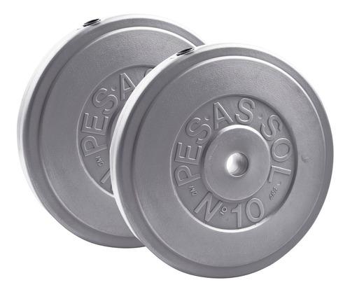 Discos Recubiertos Pesas Sol 20kg (2x10kg) Mancuernas Pesas