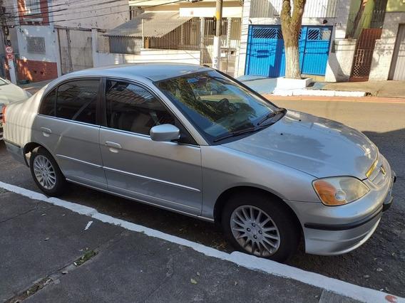 Honda Civic Sedan 1.7 Ex 4p 16v Manual 2002 Completo Couro