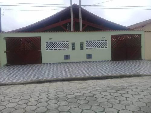 Imagem 1 de 14 de Excelente Casa Nova 2 Dorm A Venda Em Mongaguá Ref-733