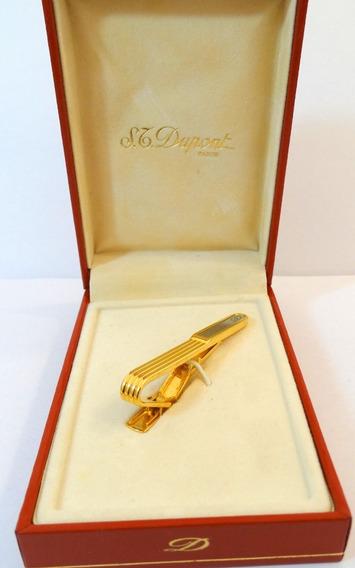 Traba Corbata Dupont Original Oro Plaqué 20µ Estuche Garant.