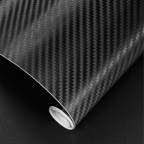 Vinilo Simil Fibra De Carbono 152cmx50cm Texturado - Capta