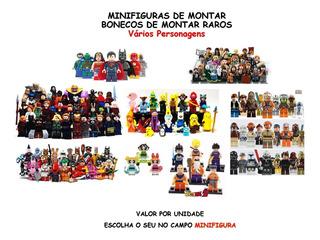Bonecos De Montar - Minifiguras Raros - Valor Unitário