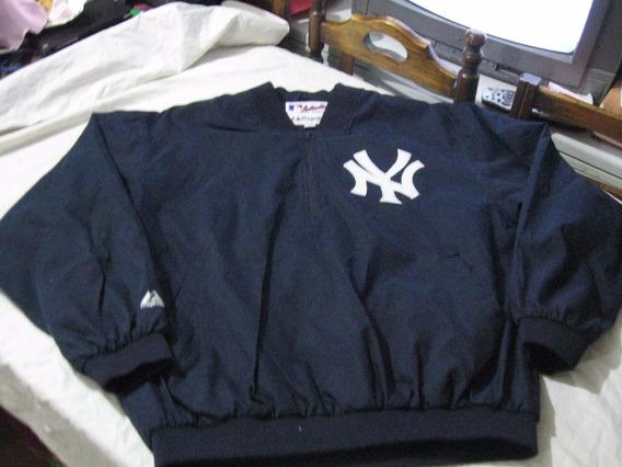 Casaca Cortaviento Medio Cierre De Los Yankees Talla Xxl