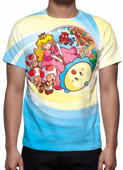 Camisa, Camiseta Game Super Mario Princesa Peach