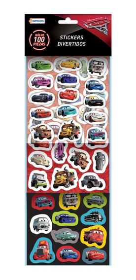 Set Combo Stickers Divertidos X100 Cars Tapimovil