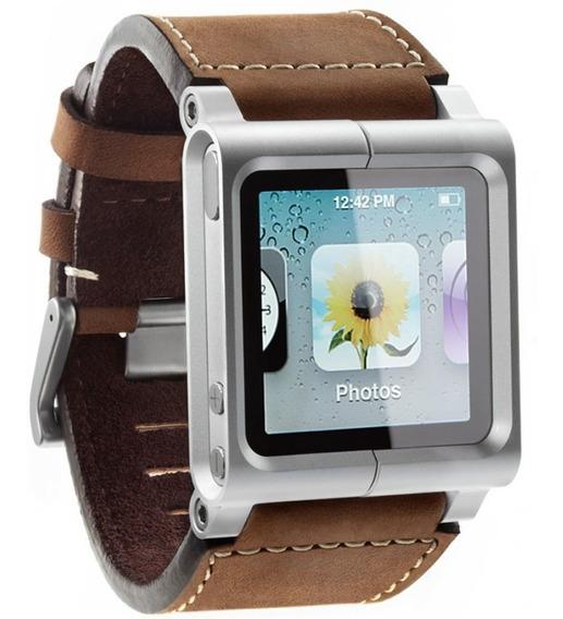 Pulseira Lunatik Chicago Couro iPod Nano 6 Geração Marrom