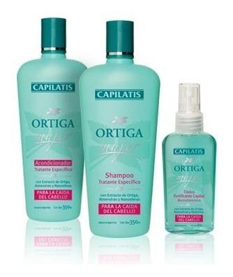 Anticaída Mujer Capilatis Ortiga Shampoo Enjuague Loción