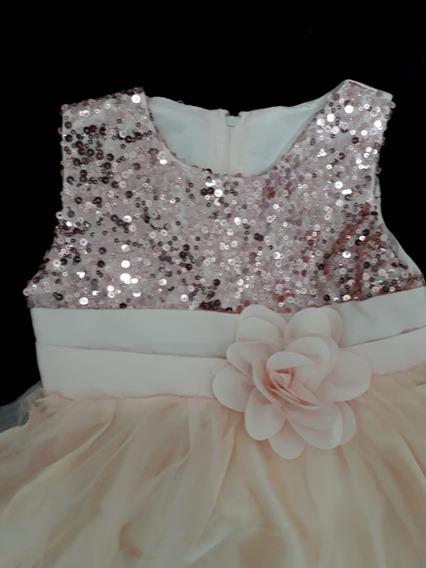Vestido Daminha Festa Bebê Aniversario Azul Pink Palha Coral