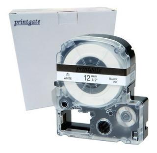 Cinta Blanca 12mm P/ Rotuladora Epson Lw300 400 Lc4wbn9 Pg