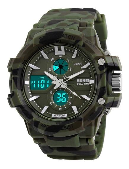 Relógio Masculino Skmei Anadigi 0990 - Verde