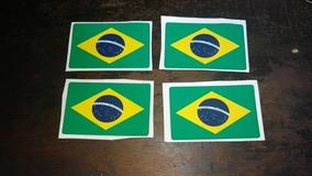 Adesivo Bandeira Do Brasil 10cm X 7cm Cada 4 Unidades
