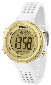 Relógio X-games Feminino Branco E Dourado Digi Xfppd064cxbx