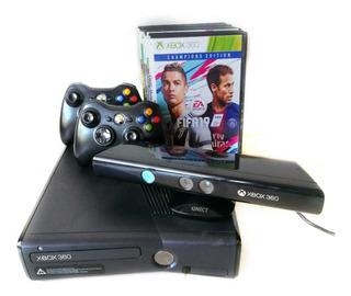 Consola Xbox 360 Usada (exelente Estado) + Kinect +26 Juegos