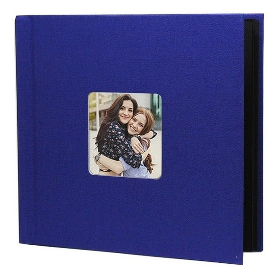 Photobook Kodak Album Auto Adesivo Janela 15x15 - Azul