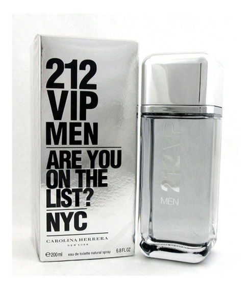Perfume Masculino 212 Vip Men Edt 200ml - Lacrado Original