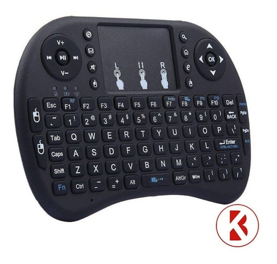 Mini Teclado Air Mouse Touch Sem Fio Wireless Com Luz