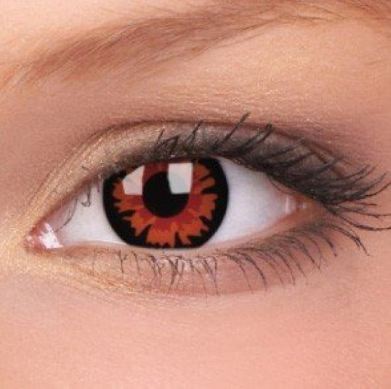 Lente Contacto Rojo Vampiro Voltury Disfraz Halloween