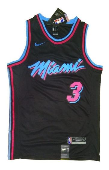 Camisa Nba Wade Miami Heat Miami Vice Pronta Entrega