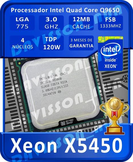 Processador Intel Core2quad Q9650 X5450 775 3ghz 12m +brinde