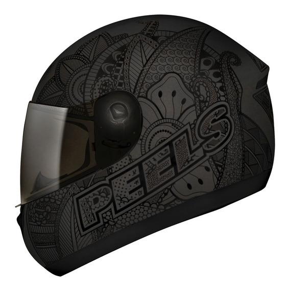Capacete Motociclista Peels Spike Indie Chumbo E Preto C/ Nf