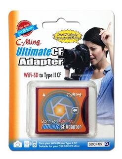 Adaptador Conversor Wifi-sd Para Compact Flash Tipo Ii Novo